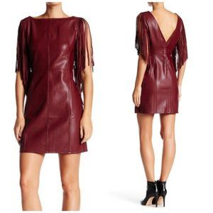 NWT Romeo&Juliet Couture Faux Leather Fringe Dress